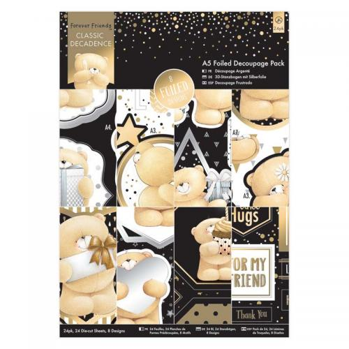 Forever Friends A5 Decoupage Pack (24pk) - Classic Decadence
