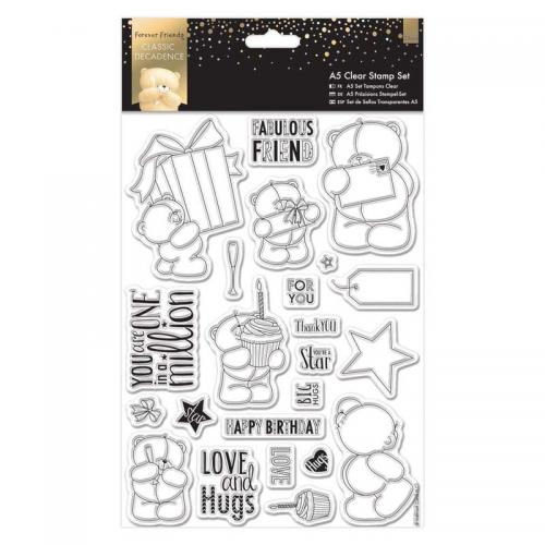 Forever Friends A5 Clear Stamp Set (23pcs) - Classic Decadence