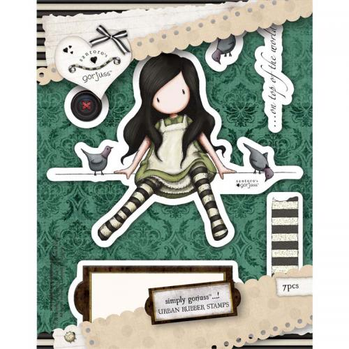 Gorjuss Urban Stamp (7pcs)- On Top Of The World