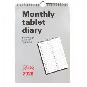 Letts Royal Tablet Business Calendar A4 Month to View 2020