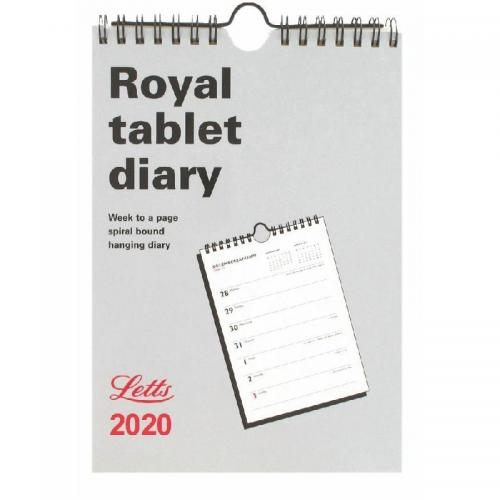 Letts Royal Tablet Business Calendar A5 Week to View 2020