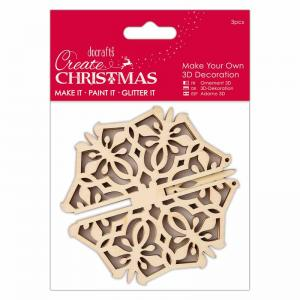 Create Christmas Make Your Own 3D Decoration - Snowflake