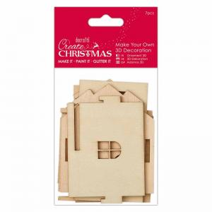 Create Christmas Make Your Own 3D Decoration - Wooden House