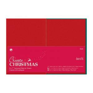 "Create Christmas 5 x 7"" Cards/Envelopes Textured (50pk, 240gsm)"