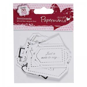 Papermania Sentiments Tags - All Ocassion