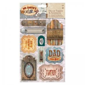 Papermania A5 Die-cut Toppers & Sentiments (2pk) - Mr Smith's