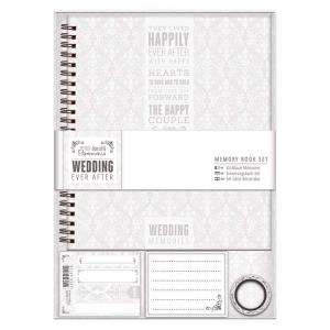 Papermania Memory Book - Wedding - Grey/White