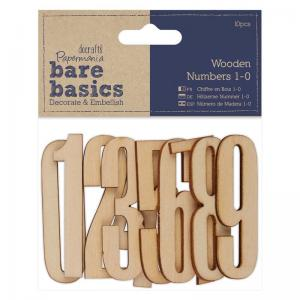Papermania Wooden Numbers 1-0 (10pcs)