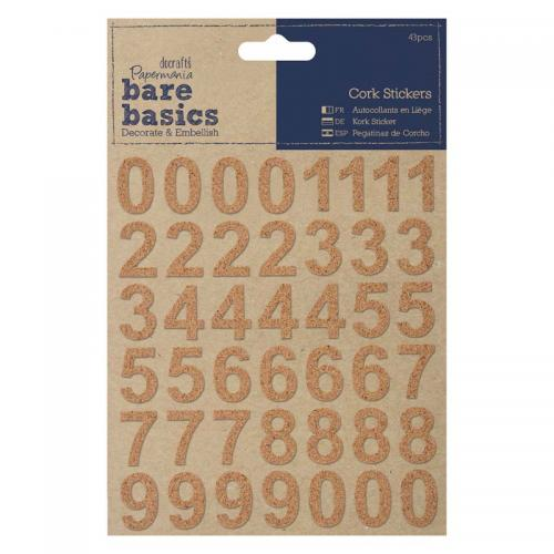 Papermania Cork Stickers (43pcs) - Numbers