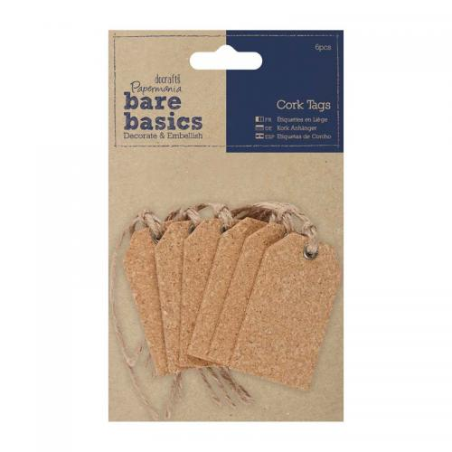 Papermania Cork Tags (6pcs) - Gift Tags