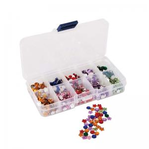 Mini Assorted Gems & Organiser (750pcs) - Florals & Stones