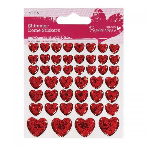 Shimmer Heart Stickers (46pcs)