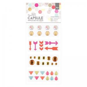 Embellishments (39pcs) Geometric Neon