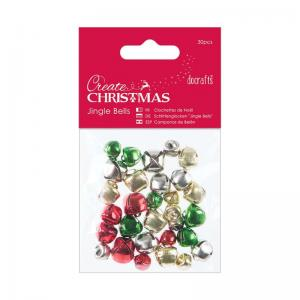 Jingle Bells (30pcs) - Mixed Colours & Sizes