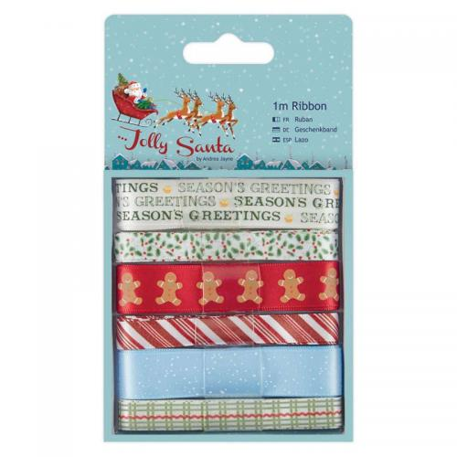 1m Ribbon (6pcs) - Jolly Santa
