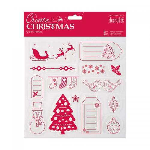 203 x 203mm Clear Stamps -  Merry Christmas
