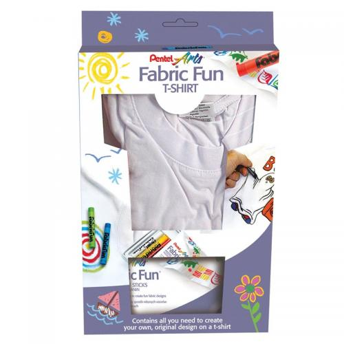 Pentel Fabric Fun Pastel Dye Sticks with T-shirt