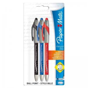PaperMate Flexgrip Elite Retractable Assorted Ball Pens (3 Pack)