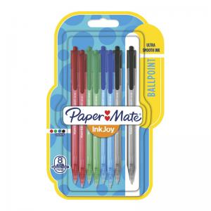 PaperMate Inkjoy 100RT Assorted Ball Pens (8 Pack)