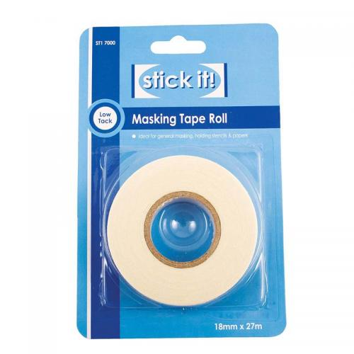 Stick It! 27m Masking Tape Roll (18mm Width)