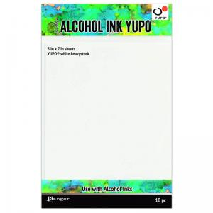 "Tim Holtz Alcohol Ink Yupo White Cardstock - 5x7"" (10 Sheets)"