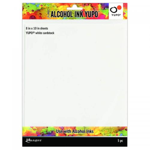"Tim Holtz Alcohol Ink Yupo White Cardstock - 8x10"" (5 Sheets)"
