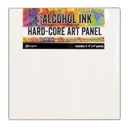"Ranger Alcohol Ink Hard-Core Art Panels - 4x4"" (Pack of 3)"