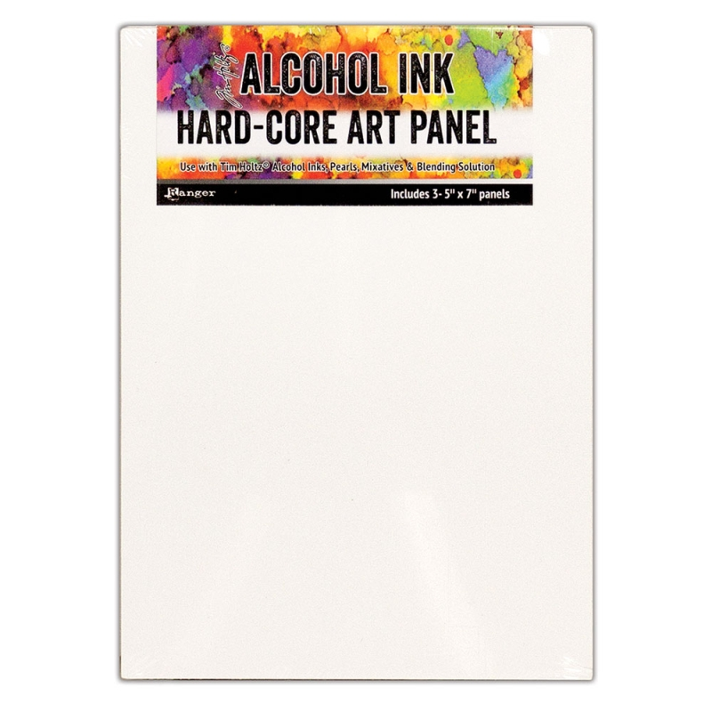 "Ranger Alcohol Ink Hard-Core Art Panels - 5x7"" (Pack of 3)"