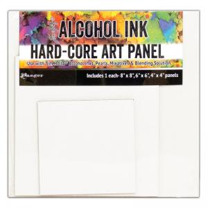 Ranger Alcohol Ink Hard-Core Art Panels - Square Set