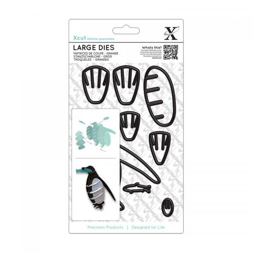 Xcut Large Dies (8pcs) - 3D Penguin
