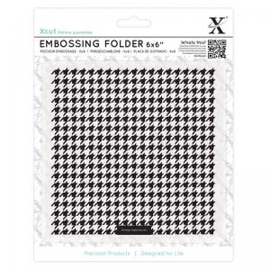 "Xcut 6 x 6"" Embossing Folder - Dogtooth Pattern"
