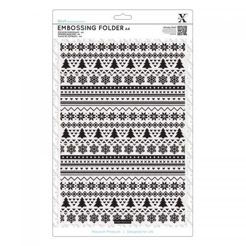 Xcut A4 Embossing Folder - Fairisle Pattern