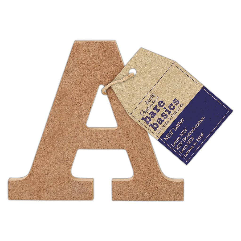Papermania Bare Basics Adhesive Wooden Alphabet Letters Home Decor Scrapbooking