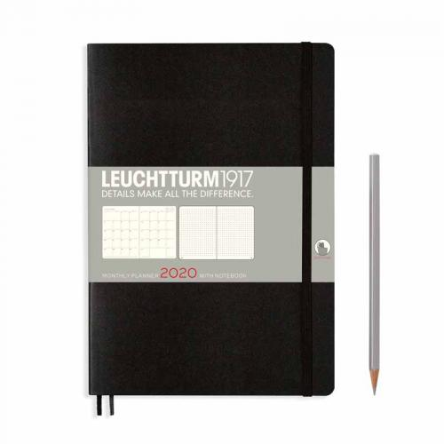 Leuchtturm 1917 Monthly Planner with Notebook (B5) 2020