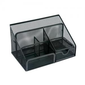 Wire Mesh Desk Organiser - Black