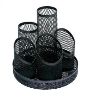 Wire Mesh Pencil Organiser - Black