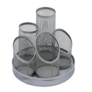 Wire Mesh Pencil Organiser - Silver