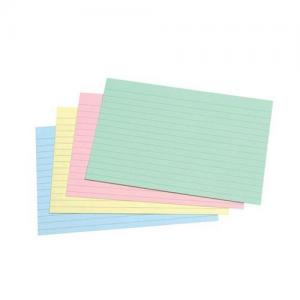 5 Star Office Record Cards - Ruled 2 Sides - Assorted 152x102mm