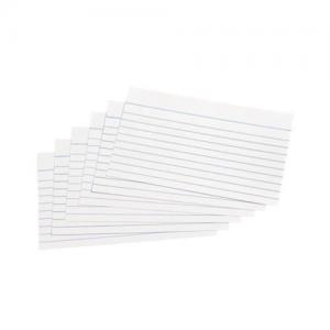 "5 Star Office Record Cards - Ruled 2 Sides - 127x76mm (5x3"") whi"