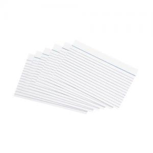 "5 Star Office Record Cards - Ruled 2 Sides - 152x102mm (6x4"")whi"