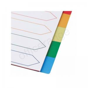 5 Star Elite Multicoloured Polypropylene A4 Dividers - 10 part