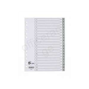 5 Star Elite Polypropylene A4 Dividers & Indices a-z