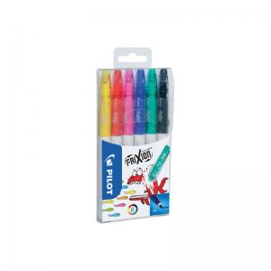 FriXion Colors Erasable Felt Tip Pen Wallet 6 Pk