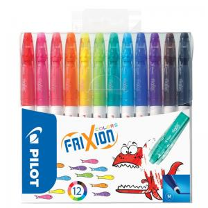 FriXion Colors Erasable Felt Tip Pen Wallet 12 Pk