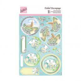 Die-cut folied decoupage packs are very popular with our crafters.  They make a really effective project with little effort.