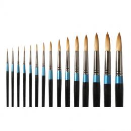From synthetic to sable brushes we can supply all. Brushes are available from rounded tips, flats, to riggers, they come from 5/0 to large brushes.