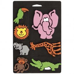 We carry a range of foam stamps suitable for kids to use.  They come in a variety of themes.