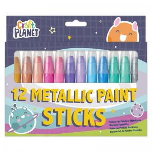 Painting made easy with new paint sticks from Craft Planet. Easy to use and with less mess than traditional paint and brush, these sticks are perfect for those looking to minimise the disruption that painting can cause. Use in a similar way to pens, simply click off the lid, twist the paint up from the bottom and apply to your chosen surface.