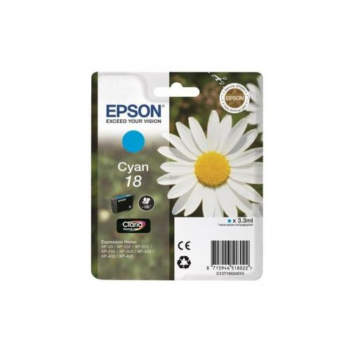 Epson Claria 18 Ink Cart Cyan C13T18024010