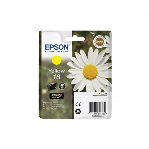 Epson Claria 18 Ink Cart Yellow C13T18044010